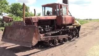 Трактор ДТ 75 регулируем фрикционы