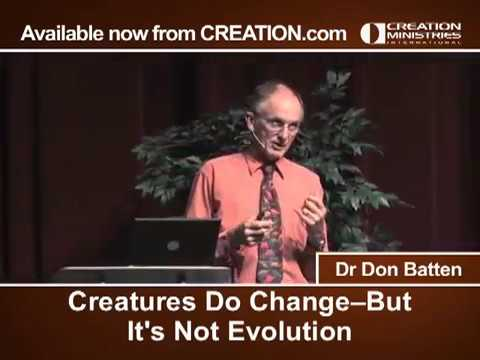 Creatures Do Change--But It's Not Evolution
