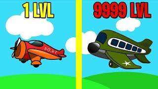 ЭВОЛЮЦИЯ САМОЛЕТА игра на андроид Merge Plane