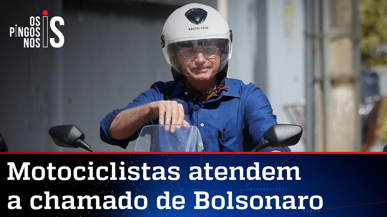 Download Bolsonaro ironiza Doria e fala em milhares de motos em passeio em SP