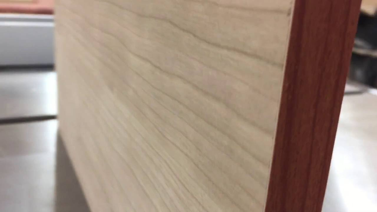 Melamine Cabinet Wall With Integrated 1 4 Cherry Skin Youtube
