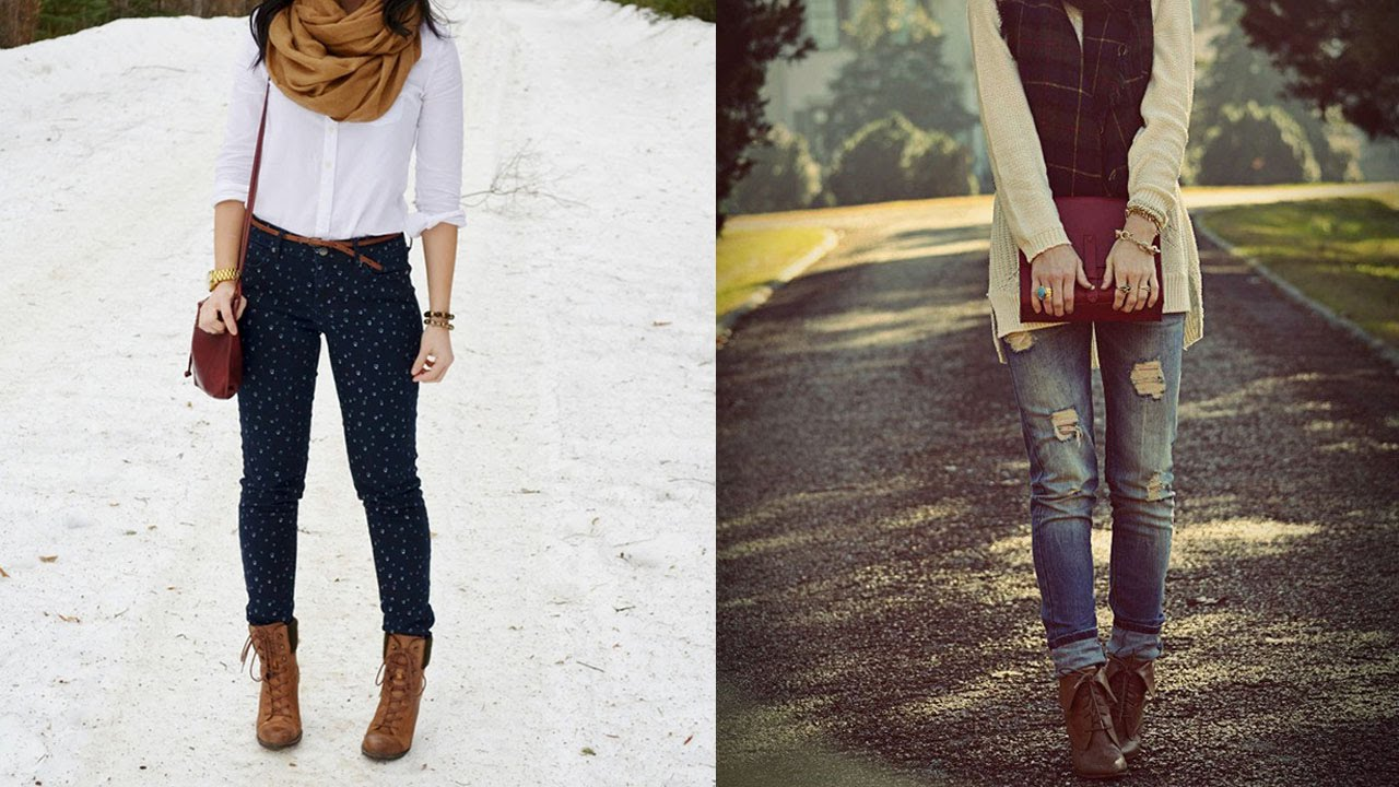 What do you wear with brown lace up boots?