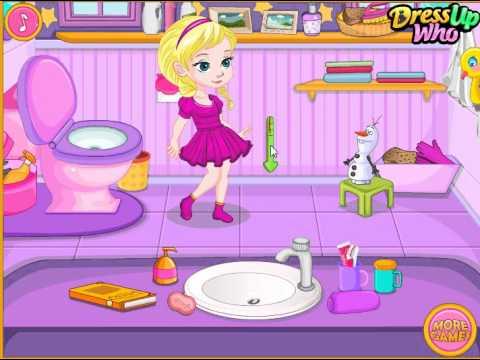 Baby Elsas Potty Train (Холодное сердце: Малышка Эльза в туалете) - прохождение игры