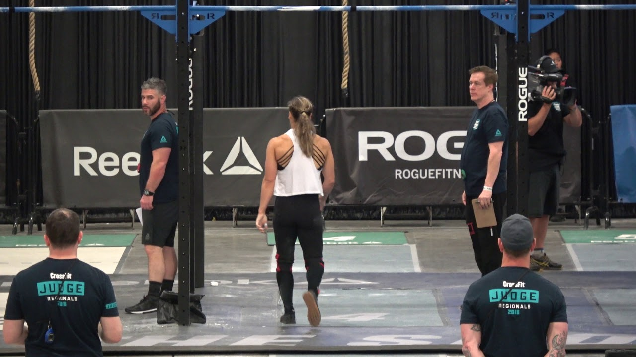 2018 Crossfit Games Regionals Event 6 Claire Youtube