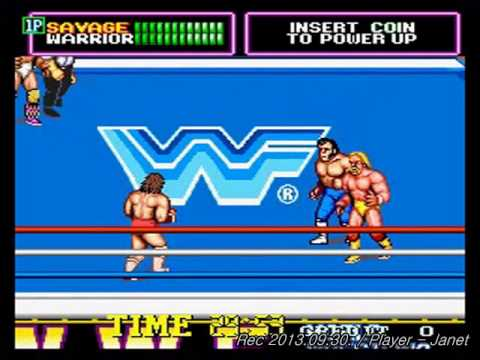 WWF Superstars(Technos Japan wrestling game) - 1CC(Speed ...