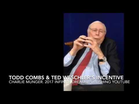 Todd Combs, Ted Weschler & their Incentive I Designed -Charlie Munger Interview 2017