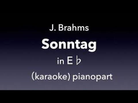 Sontag   J. Brahms  in E♭ karaoke