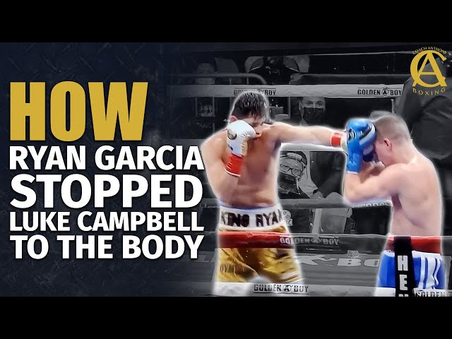 How Ryan Garcia Stopped Luke Campbell to the Body! [ Instructional + Film Study ]
