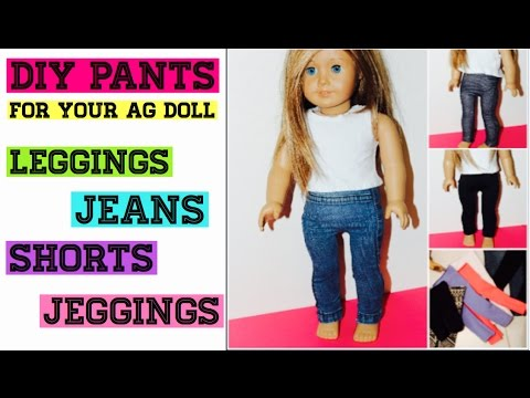 DIY Pants For Your American Girl Doll | NO-SEW OPTION || Leggings/Jeans/Jeggings || Super Easy!