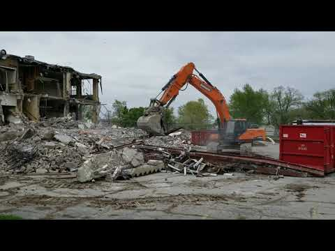 2019.05.07 - Old North Webster High school demolition video