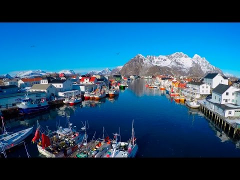 Lofoten from above: -The amazing Lofoten Islands in  north Norway