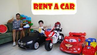 Araç Kiralama Ofisi Kurduk Oynadık | Yusuf Pretend Play with Toy Cars