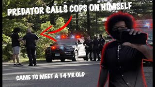 """MAN COMES TO MEET 14 YR OLD AND CALLS COPS ON HIMSELF 