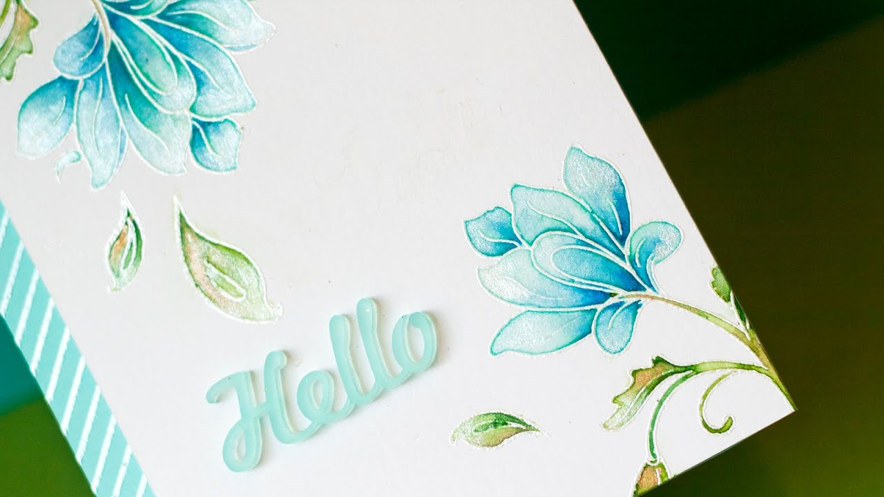 Watercolor + Stamping - YouTube
