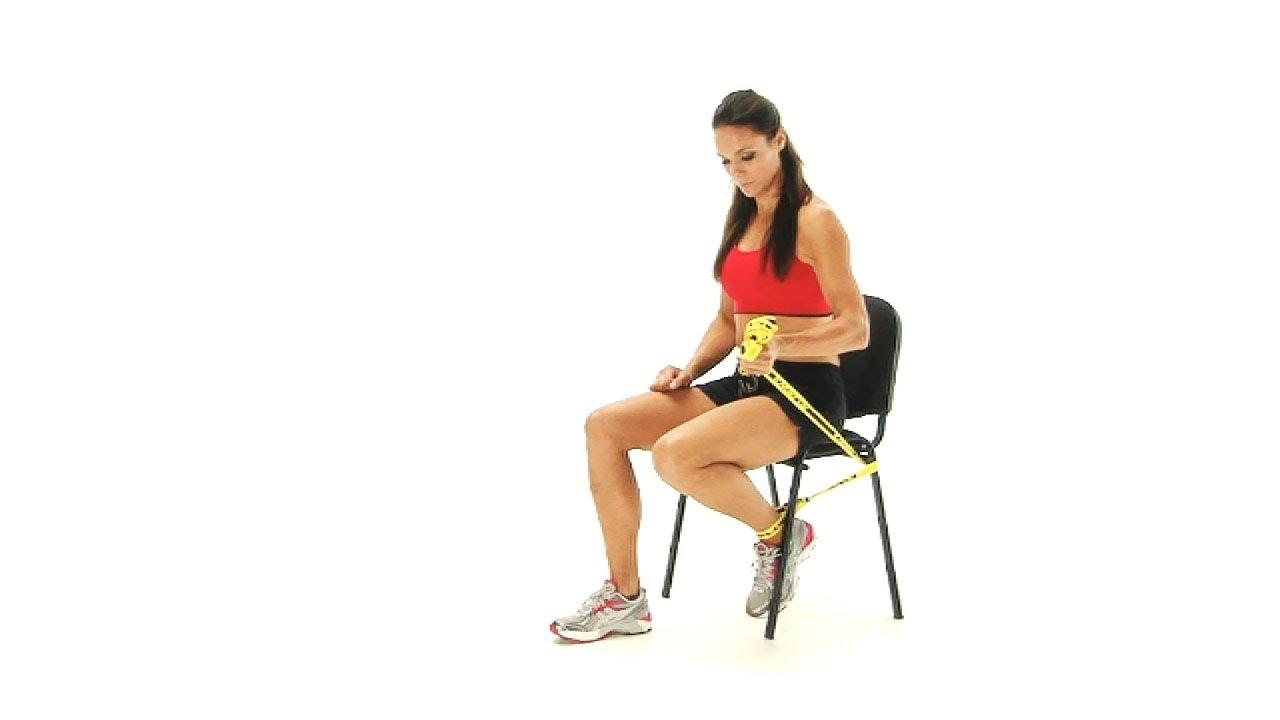 Knee exercises - Prolonged knee flexion seated - YouTube