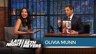 Olivia Munn Thinks Seth Is a Little Too Crazy About His Dog - Late Night with Seth Meyers