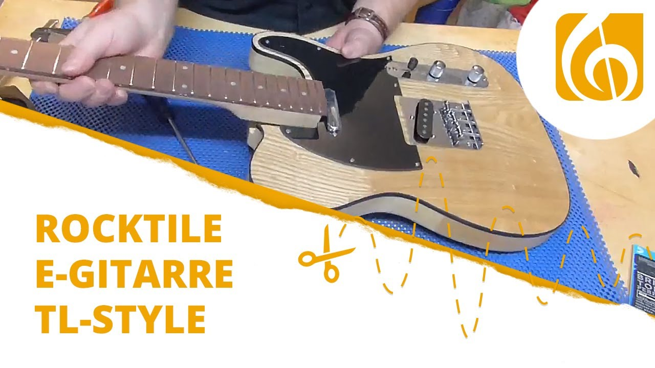 rocktile e gitarren bausatz tl style schnelldurchlauf youtube. Black Bedroom Furniture Sets. Home Design Ideas
