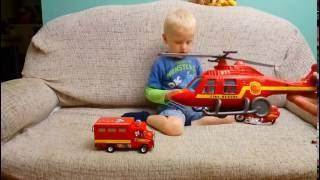 ☆ Пожарная машина Пожарный мотоцикл Пожарный СЭМ Пожарный вертолет(Обзор набора игрушек пожарного Сэма, пожарной машины, пожарного вертолета, пожарной машинки и пожарного..., 2016-09-16T04:54:10.000Z)