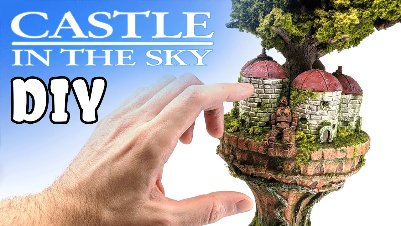 Download CASTLE IN THE SKY Diorama made from TRASH // Studio Ghibli Crafts