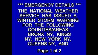 Winter Storm Warning: New York, NY || 3-6-18