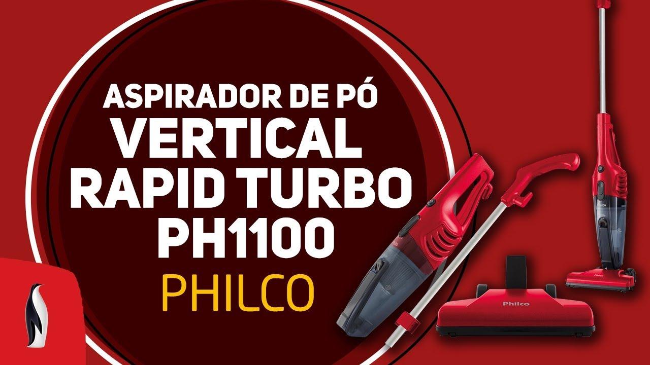 eb2085a66 O Aspirador VERTICAL RAPID TURBO PH1100 da Philco vai facilitar a limpeza da  sua casa