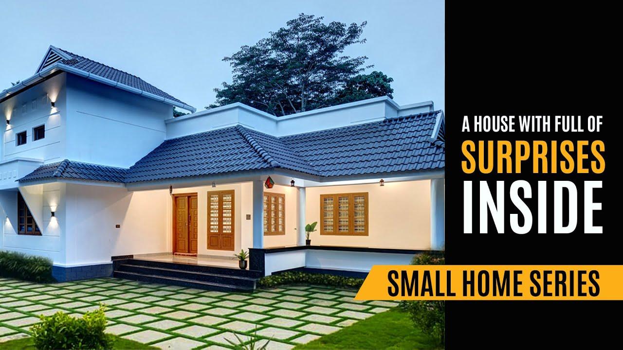 Simple & Stylish 3 BHK single storey house | Kerala Traditional Home Tour | Woodnest Interiors