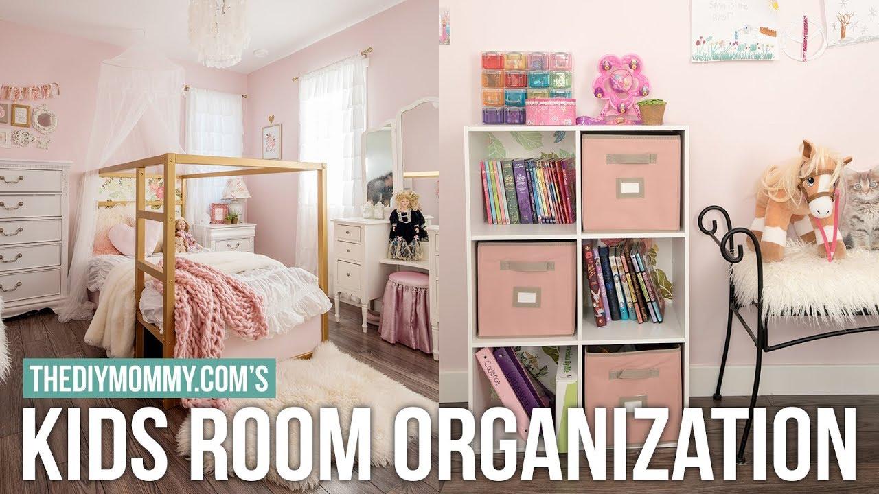 KIDS BEDROOM ORGANIZATION | DIY & Decor Challenge | The DIY Mommy ...