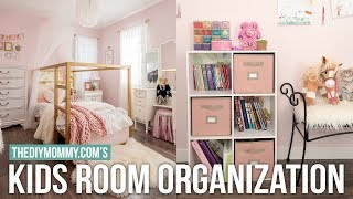 KIDS BEDROOM ORGANIZATION | DIY & Decor Challenge | The DIY Mommy