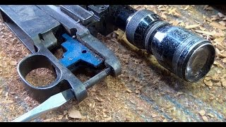 home made rifle stock using a chainsaw part 2 of 4