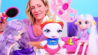 Spielspaß mit Puppen  Das Einhorn will zum Schönheitswettbewerb  Kindervideo auf Deutsch
