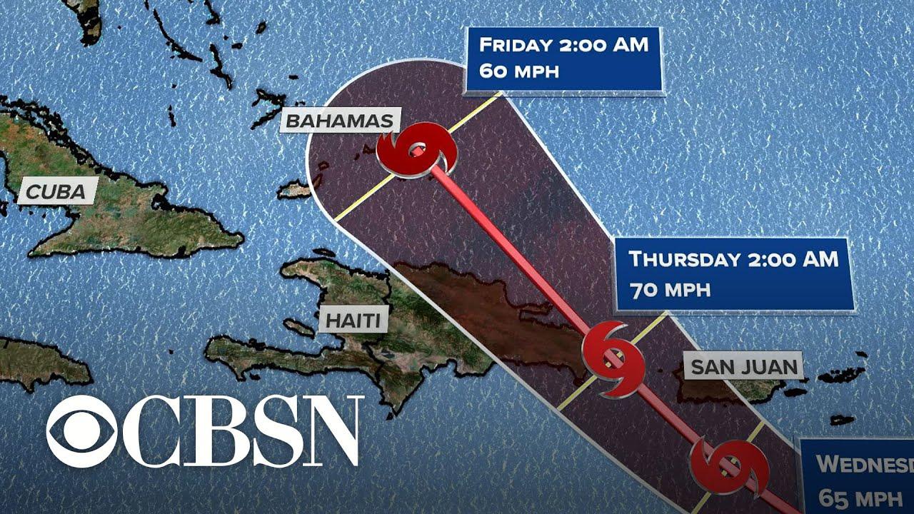 Tropical Storm Dorian takes aim at Puerto Rico  live updates