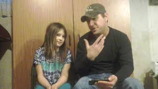 Dad and daughter music reaction video.