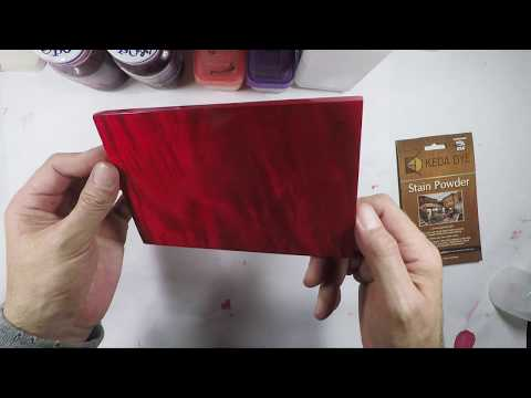 How To Color Wood Red With Unique Red Stain Keda Red Dye Tips