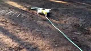 Tractor Lawn sprinkler with duals