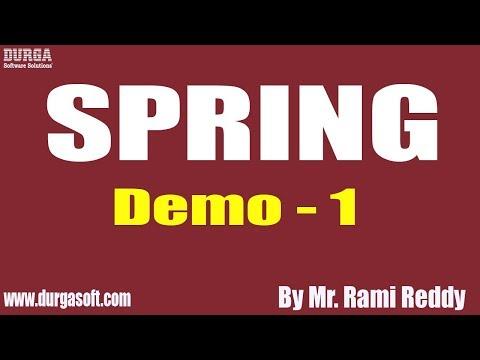 spring-tutorial-||-demo---1-||-by-mr.-rami-reddy-on-06-11-2019