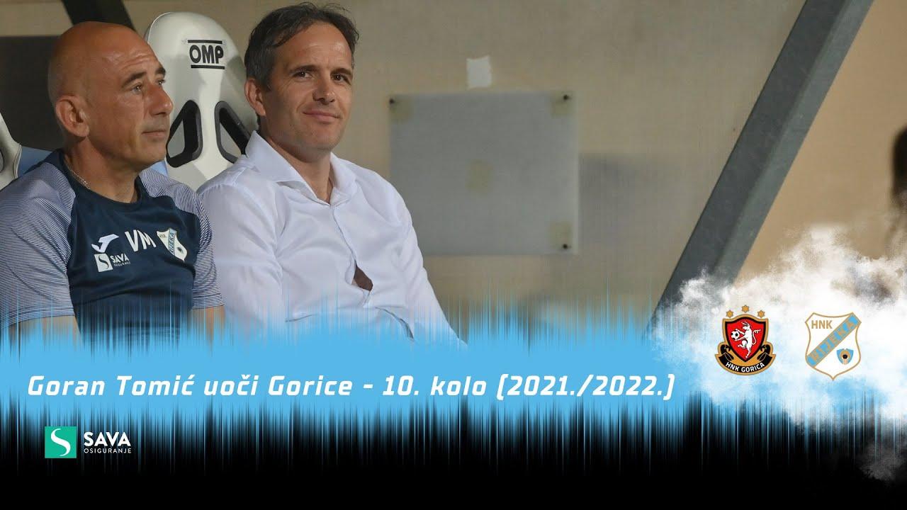 Goran Tomić uoči Gorice - 10. kolo (2021./2022.)