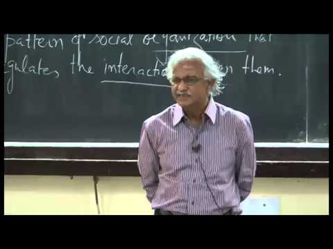 Mod-01 Lec-03 Nature of society: Individuals and groups