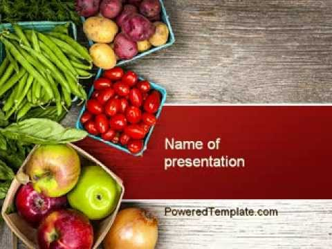 fruit and veg powerpoint templatepoweredtemplate - youtube, Modern powerpoint