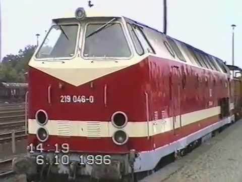 Eisenbahn rund um Kamenz 1995 und 1996: Gersdorf, Pulsnitz, Schwepnitz