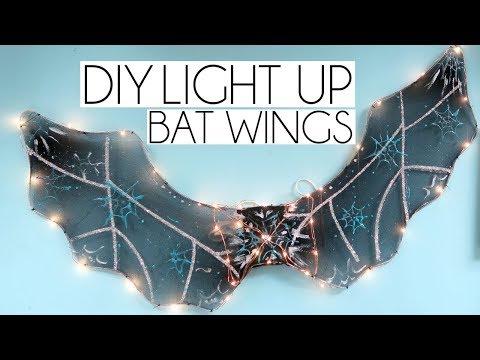 DIY LIGHT UP POUNDLAND BAT WINGS | CRAFTOBER #3