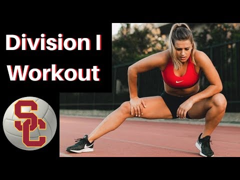 USC VOLLEYBALL LIFT Division I Workout