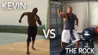 Kevin Hart & The Rock DANCE OFF | Funny!