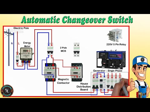 Automatic Changeover Switch For, Automatic Transfer Switch Wiring Diagram