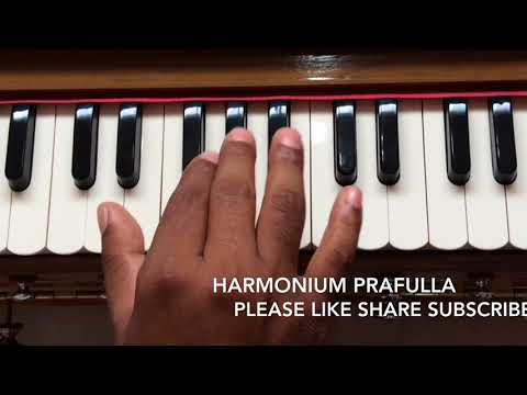 Vande Mataram notation on Harmonium