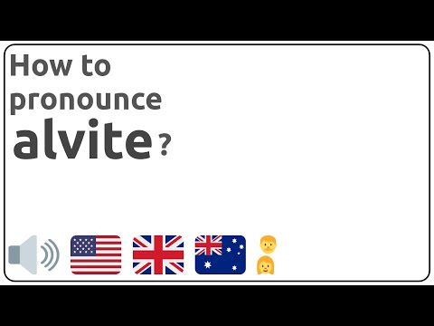 How to pronounce alvite in english?