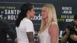 Amanda Nunes vs. Holly Holm Face Off | UFC 239 Media Day