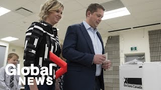 Canada Election: Andrew Scheer casts vote in federal election