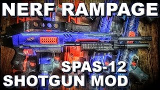 [REVIEW] Nerf Rampage Spas 12 Shotgun Modification Kit from Germany Video