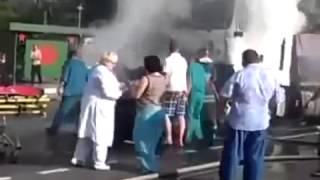 Люди ГОРЯТ ЗАЖИВО в аварии