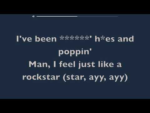 Rockstar clean lyrics